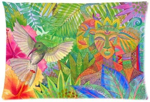 Jennifer Baird - African Forest Queens Design Microfiber Pillowcase Cover - Standard Size 20x30 inch one side