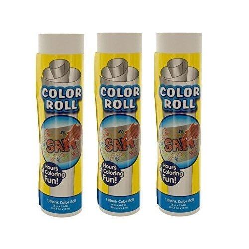 Mel Easel Childrens Paper Craft Rolls Paint Crayon Marker 3 Pack 8x 66 feet each