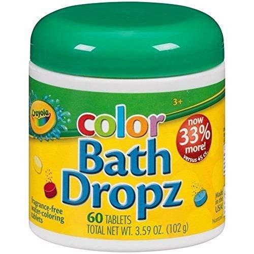 Crayola Color Bath Dropz 359 Ounce 60 Tablets by Toys Child