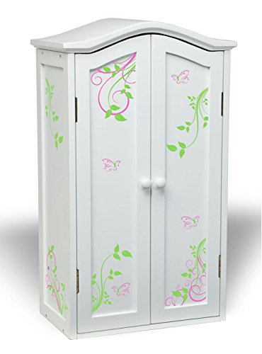 Laurent Doll Armoire - Swirling Butterflies