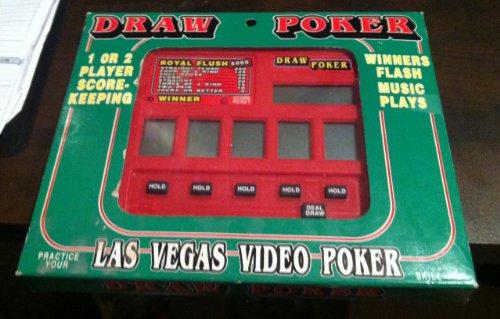 DRAW POKER - Big Screen Las Vegas Video Poker Electronic Handheld Game