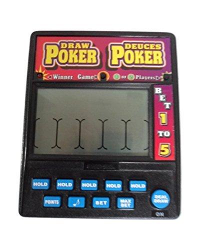 DRAW POKER DEUCES POKER Electronic Handheld Game 1-2 Players