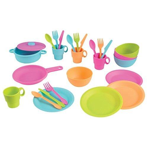 KidKraft 27 Piece Cookware Play Set Play Kitchen Set Bright