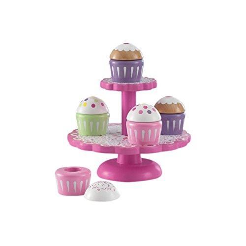 KidKraft 6 Piece Cupcake Stand Set Play Kitchen Set
