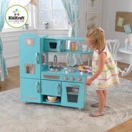 KidKraft Vintage Wooden Play Kitchen Set Blue