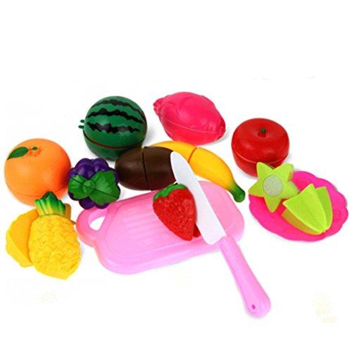 CocoMarket Educational Toys Kid Fruit Vegetable Cutting Toy Food Set 13PCS