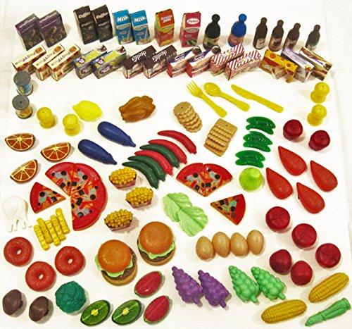Pretend Kids Toy Play Food Set Huge 128 Piece