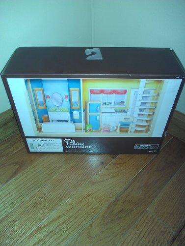 Play Wonder Wooden Kitchen Set for Dollhouse