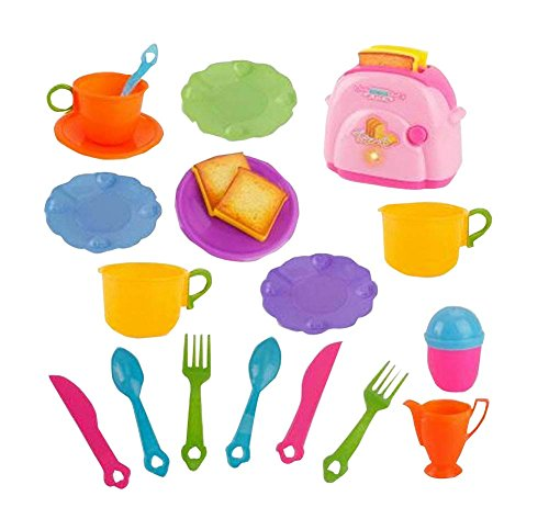 Pretend Kitchen Toy Set Plastic Artificial Cookware for Toddler Kids