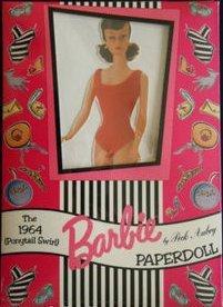 1964 PONYTAIL SWIRL Brunette BARBIE PAPERDOLL by Peck Aubry