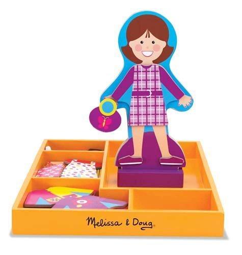 My Friend Molly - Magnetic Dress Up Wooden Doll Stand  FREE Melissa Doug Scratch Art Mini-Pad Bundle 51606
