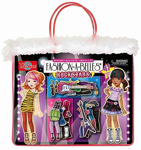 TS Shure Fashion-A-Belles Rockstar Wooden Magnetic Dress-Up Dolls