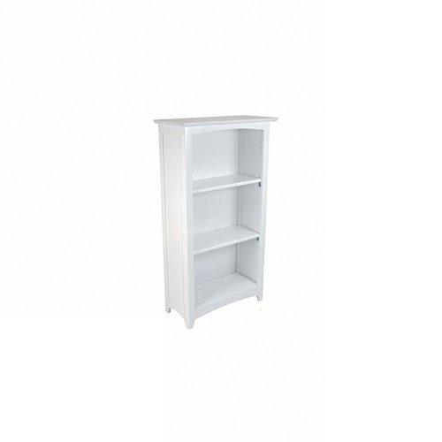 Avalon 3-Shelf Bookcase - White