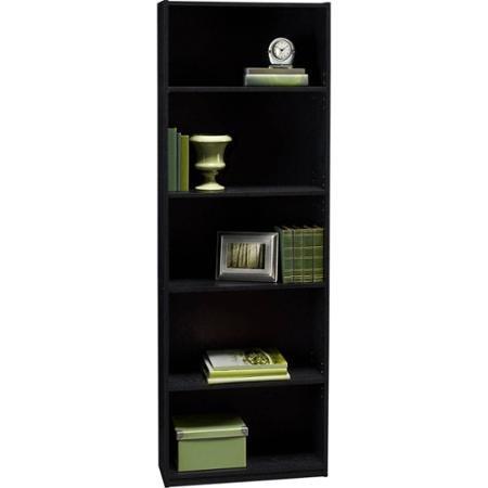 Black Color Ameriwood 5-Shelf Bookcase