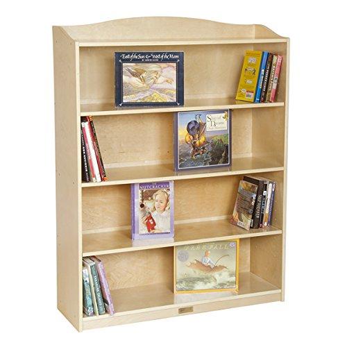 Kids Bookshelf  Bookcase Single-Sided Natural 5-Shelf Kids Bookcase - 36 in Wide x 12 in Deep x 48 in High