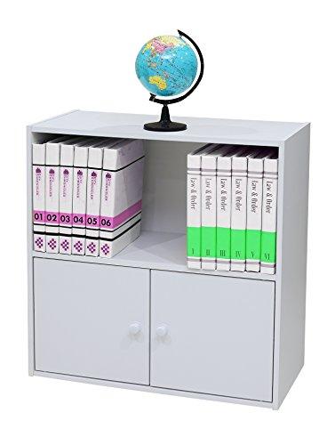 Kings Brand Furniture 2-Shelf Bookcase Storage Organizer White