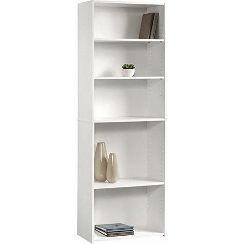 Sauder Beginnings 5-Shelf Bookcase Soft White