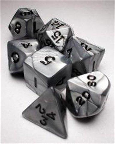 Koplow RPG Dice Sets SilverBlack Olympic Polyhedral 7-Die Set