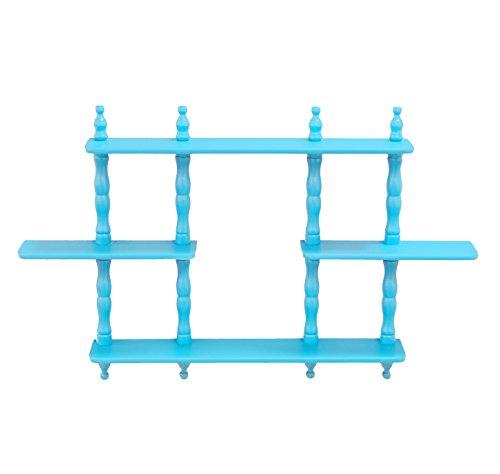 Frenchi Home Furnishing Kids 3-Tier Wall Shelves Blue