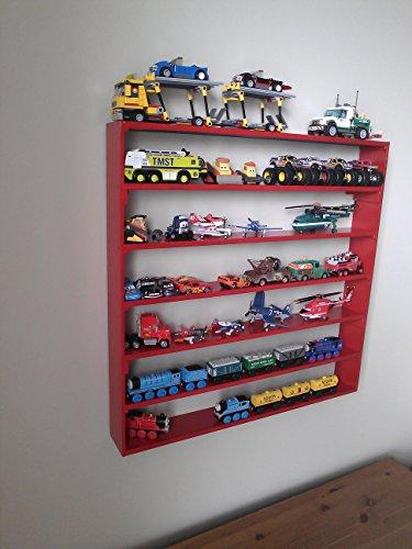 VersaRacks - Cars Thomas the Train Monster Trucks Legos Model Wall Display Case Shelf - Apple Red