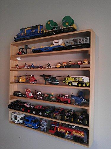 VersaRacks - Cars Thomas the Train Monster Trucks Legos Model Wall Display Case Shelf - Clear Finish