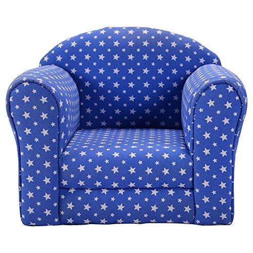 Blue wStars Kid Sofa Armrest Chair Couch Children Living Room Toddler Furniture