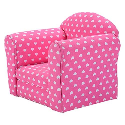 Costzon wStars Kid Sofa Armrest Chair Couch Children Living Room Toddler Furniture pink