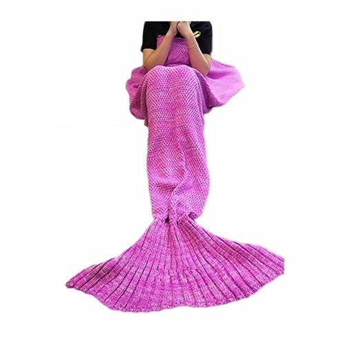 Mermaid BlanketPuremakee Mermaid Tail Blanket Warm Soft All Seasons for KidsSofa Quilt Living Room Super Sleeping Bags Pink5512x2756