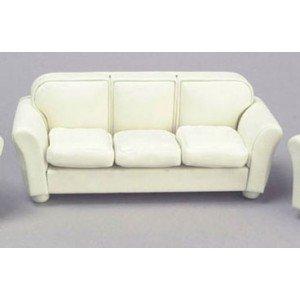 Dollhouse Cream Leather Sofa