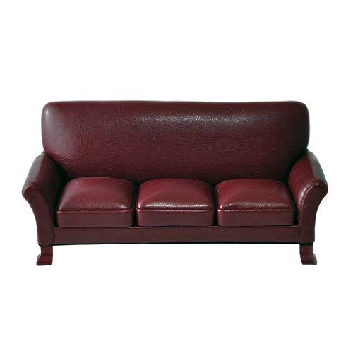 Dollhouse Miniature Continental Leather Sofa