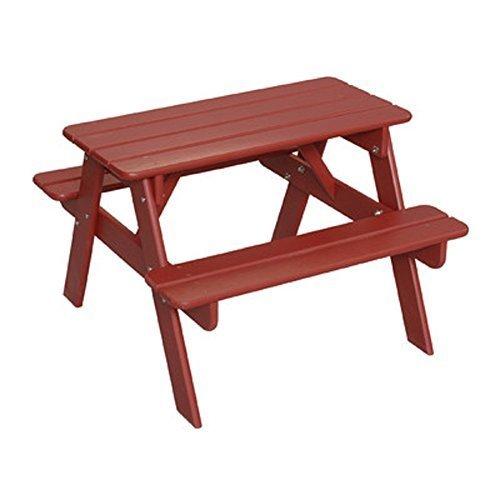 Little Colorado Kids Picnic Table Wooden Picnic Table Portable Picnic Table Red by Little Colorado