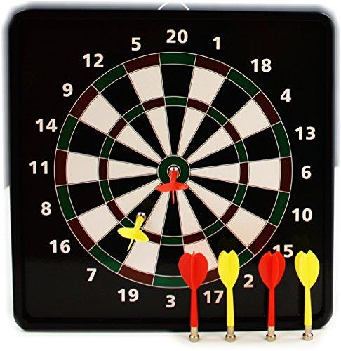 2 in 1 Reversible Magnetic Dartboard Dart Board with Standard Darts Baseball Games