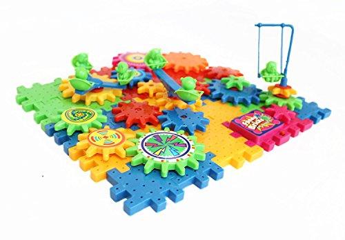 Educational Toy Gear Set - Fine Motor Skills Toys - Educational Toys for Preschool - Best Plastic Building Gears - Early Education Fine Motor Skill Development