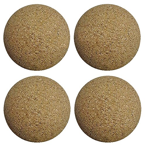 Bank Shot Billiards 4 Cork Foosballs Natural-Wood Colored Table Soccer Foos Balls