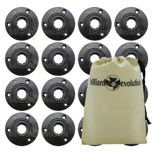 Set of 16 Foosball Table Rod Ball Bearings - Fit 58 Foosball Rods Billiard Evolution Drawstring Bag