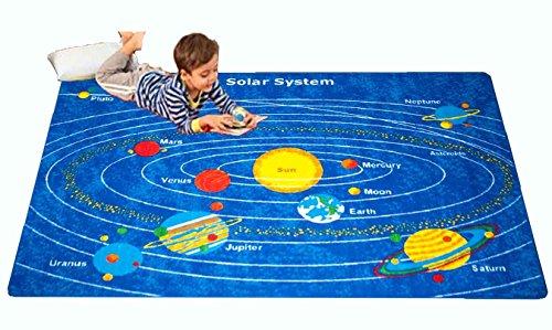 Kids Rug Solar System Childrens Area Rug - Non Skid Gel Backing 5 x 7
