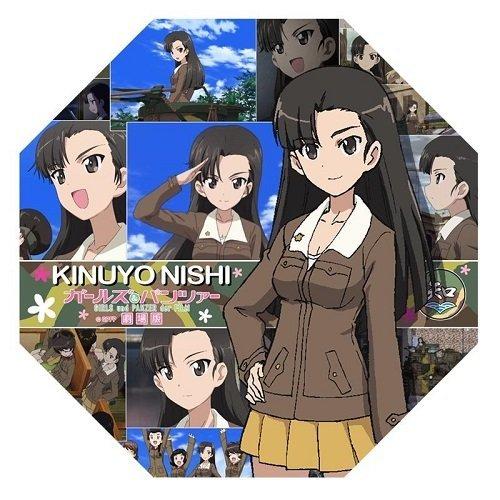 Girls und Panzer theater version Kinuyo Nishi tabletop mini umbrella