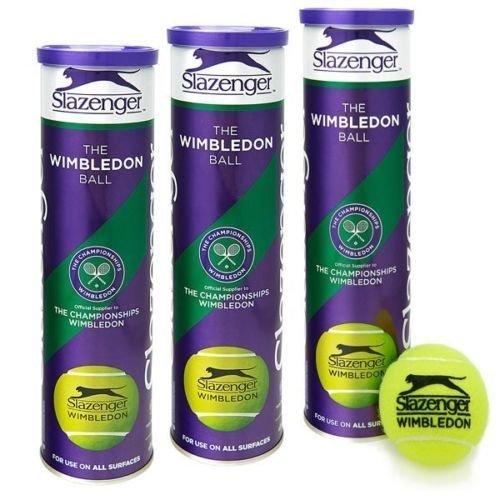 Slazenger Wimbledon Tennis Balls 3-Cans 12-Balls