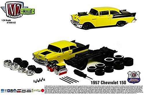 New 124 MODEL-KIT RELEASE 2 - 1957 Chevrolet 150 Sedan Diecast Model Car By M2 Machines