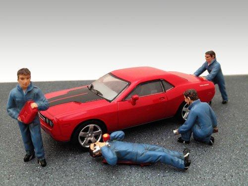 American Diorama Figurine 24020 Set of 4 Auto Mechanics 143 Scale