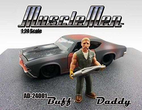 Buff Daddy Figure Green - American Diorama Figurine Musclemen Series I 24001 - 124 scale
