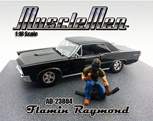 Flamin Raymond Figure Green - American Diorama Figurine Musclemen Series I 23804 - 118 scale