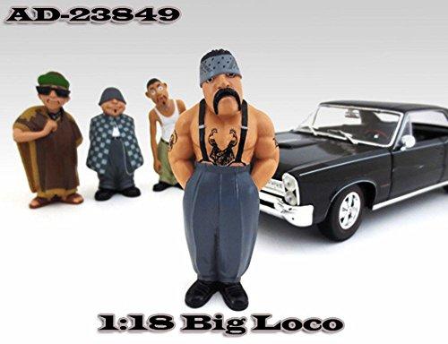 Homies Figures Series 1 Big Loco American Diorama Figurine 23849 - 118 scale