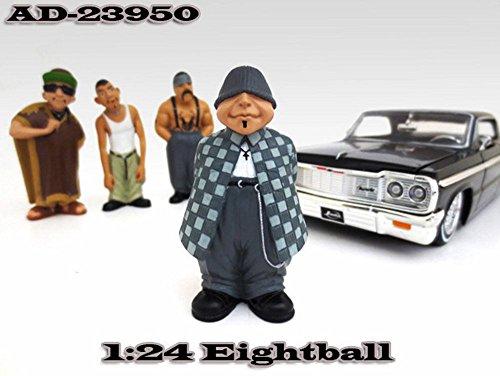 Homies Figures Series 1 Eightball American Diorama Figurine 23950 - 124 scale