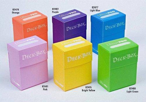 Ultra-Pro Deck Box Set of 6 Orange Purple Light Blue Pink Yellow Light Green