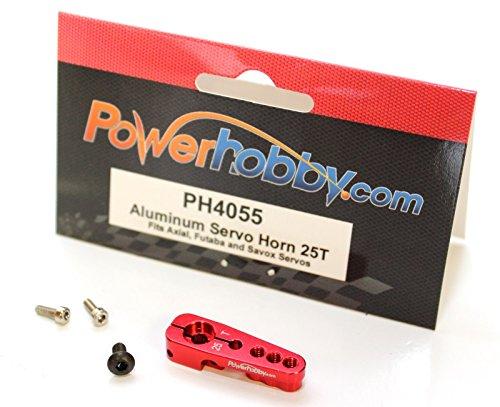 Power Hobby Aluminum 25T Servo Horn For Savox  Axial  Futaba Red
