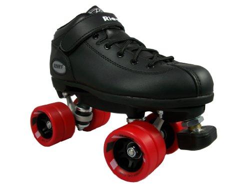 Riedell Dart Skates - Dart Black Speed Skates - Dart Black Quad Skates