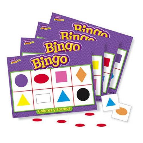Bingo de Colores y Formas Spanish Colors Shapes Bingo