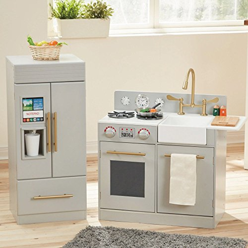 Teamson Design Corp Teamson Kids - Urban Adventure Play Kitchen with Ice Maker Function - Grey Playset