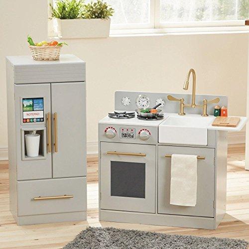 Teamson Design Corp Teamson Kids - Urban Adventure Play Kitchen with Ice Maker Function - Grey Playset